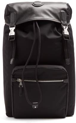 Guardsman canvas and leather backpack