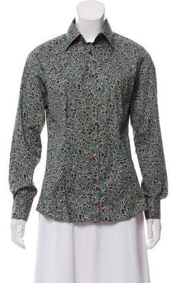 Etro Printed Button Up- Top