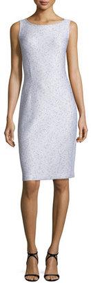 St. John Collection Sparkle Twilight Knit Sleeveless Dress, Silver $895 thestylecure.com