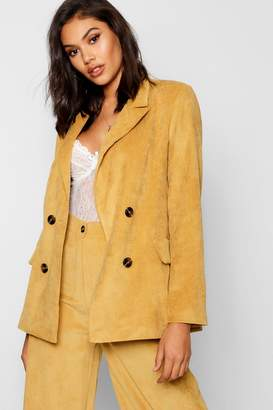 boohoo Baby Cord Double Breasted Jacket