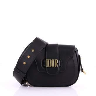 Christian Dior D-Fence Black Leather Handbag
