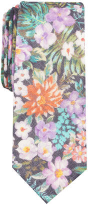 Bar III Men's Carinel Floral Skinny Wool Tie, Created for Macy's