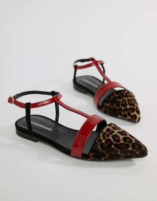 Custom Made Custommade Strappy Flat Shoes in Leopard