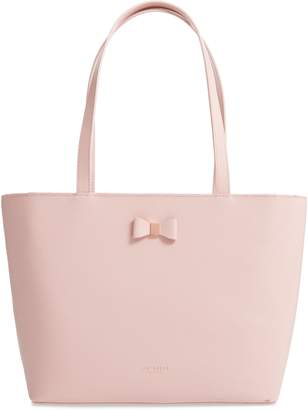Ted Baker Tonal Bow Small Leather Shopper