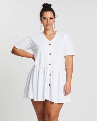 Button-Down Smock Dress