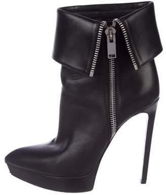 Saint Laurent Platform Ankle Boots Black Platform Ankle Boots