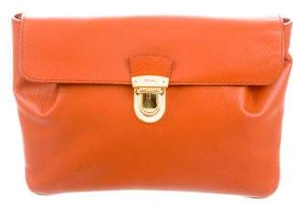 Prada Saffiano Push Lock Clutch