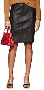 Narciso Rodriguez Women's Seamed Lambskin Pencil Skirt - Black