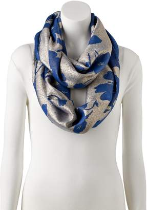 Apt. 9 Women's Two Tone Floral Infinity Scarf