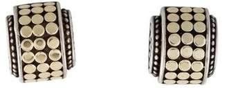 John Hardy Two-Tone Dot Mini Hi-Way Stud Earrings