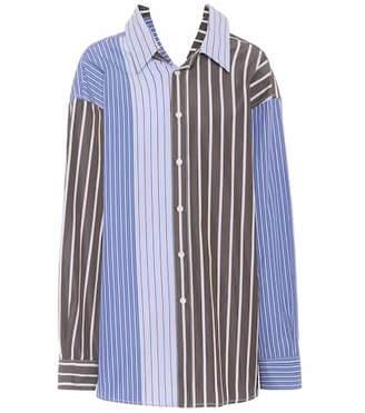 Marni Oversized striped cotton shirt