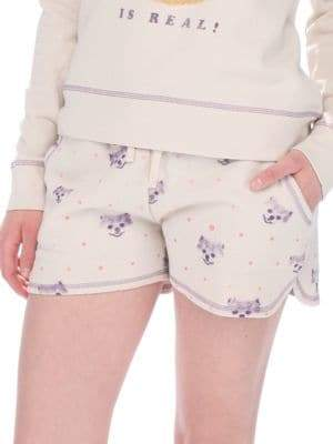 Retrospective Fleece Printed Shorts
