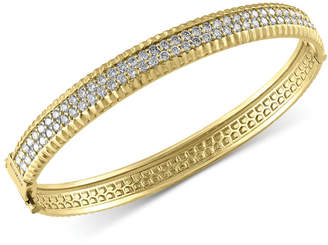 Effy Trio By Diamond Bangle Bracelet (2-1/6 ct. t.w.) in 14k White, Yellow and Rose Gold