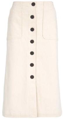 cf6314761b Mint Velvet Cream Cord A-Line Skirt