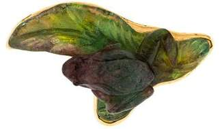 Daum Glass Frog Brooch