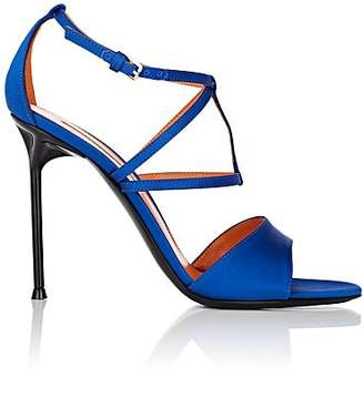 Walter De Silva Women's Luna Satin Crisscross-Strap Sandals - Blue