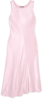 Vince Crinkled-satin Midi Dress - Pink