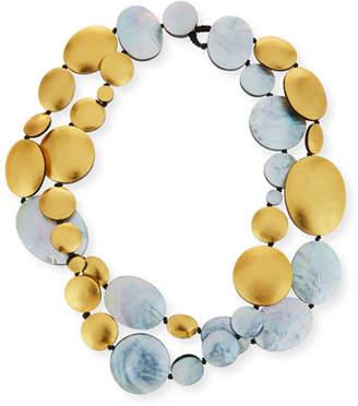 Viktoria Hayman Double-Strand Two-Tone Disc Necklace