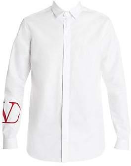 Valentino Men's Long-Sleeve Logo Shirt