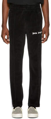 Palm Angels Black Chenille Lounge Pants