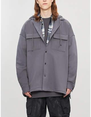 Juun.J Juun J Oversized cotton-jersey hooded shirt