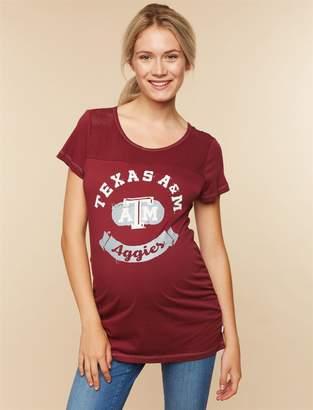NCAA Motherhood Maternity Texas A & M Aggies Mesh Detail Maternity Tee