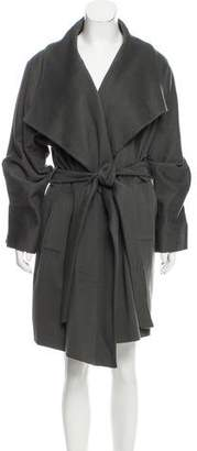 Aquascutum London Wool Knee-Length Coat
