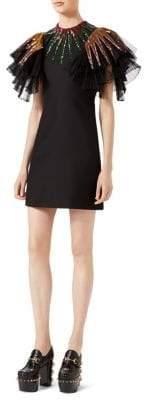 Gucci Ruffle Embellished Dress
