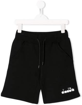 Diadora Junior logo track shorts