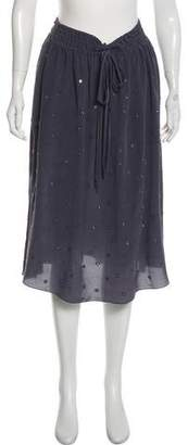 Rebecca Taylor Embellished Midi Skirt