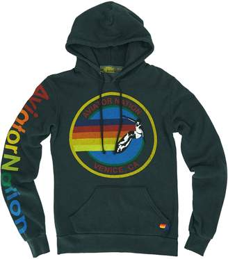 Aviator Nation Graphic Cotton-Blend Hoodie