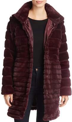 Via Spiga Lush Chubby Faux Fur Puffer Coat