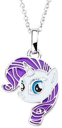 My Little Pony Hasbro Jewelry Rarity Women 925 Sterling Silver With 16+2 Inch Extender Chain Pendant Necklace