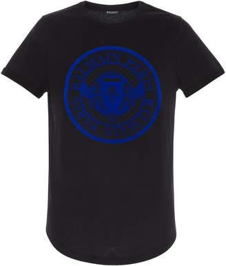Balmain Coin Logo-Printed Jersey T-Shirt