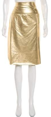 Norma Kamali Gold Lame Skirt