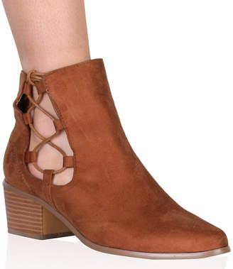 Public Desire Belinda Ankle Boots Faux Suede
