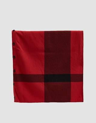 Engineered Garments Button Shawl in Red Big Plaid