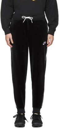 Nike Black Velour NSW Lounge Pants