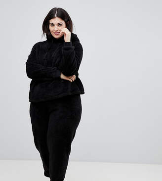 Asos DESIGN Curve Lounge super soft hoody and jogger twosie