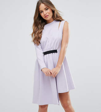 Asos One Shoulder Dress With D Ring