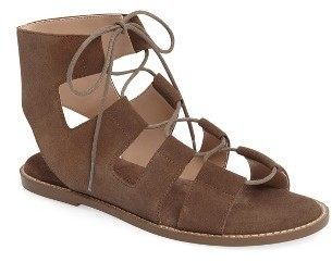 Women's Sole Society 'Cady' Lace-Up Flat Sandal $79.95 thestylecure.com