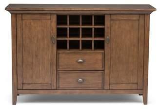 Simpli Home Redmond Sideboard and Wine Rack