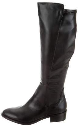 Donald J Pliner Round-Toe Leather Boots