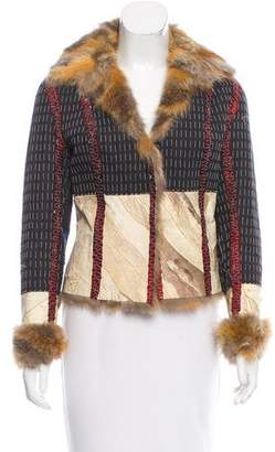 Christian Dior Tailored Fox Fur-Trimmed Jacket