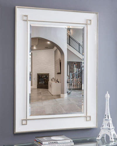 Gorbon White Wall Mirror