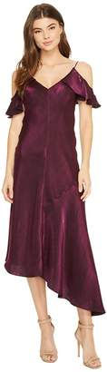 Donna Morgan Cold Shoulder Spaghetti Strap Shimmer Slip Dress Women's Dress