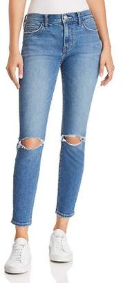 Current/Elliott The Stiletto Distressed Cropped Skinny Jeans in 2 Year Destroy Stretch Indigo