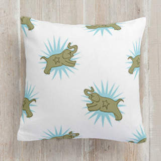 Jumping Elephants Self-Launch Square Pillows