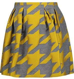 Alice + Olivia Alice+olivia Connor Houndstooth Wool-Blend Jacquard Mini Skirt
