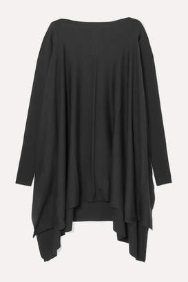 Rick Owens Convertible Cutout Draped Wool Sweater - Black